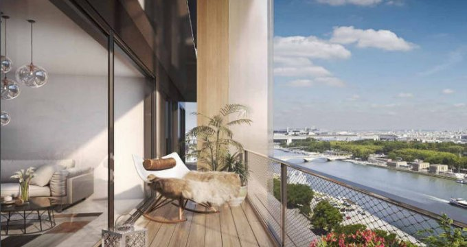 Achat / Vente appartement neuf Paris 13e au coeur du quartier Bruneseau (75013) - Réf. 5337