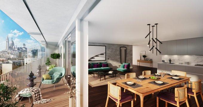 Achat / Vente appartement neuf Paris 18ème quartier de Montmartre (75018) - Réf. 2620