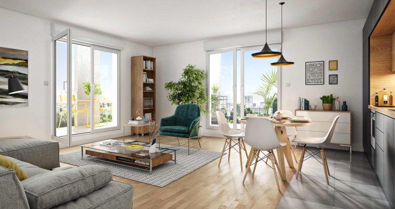 Achat / Vente appartement neuf Asnières-sur-Seine entre ville et nature (92600) - Réf. 4237