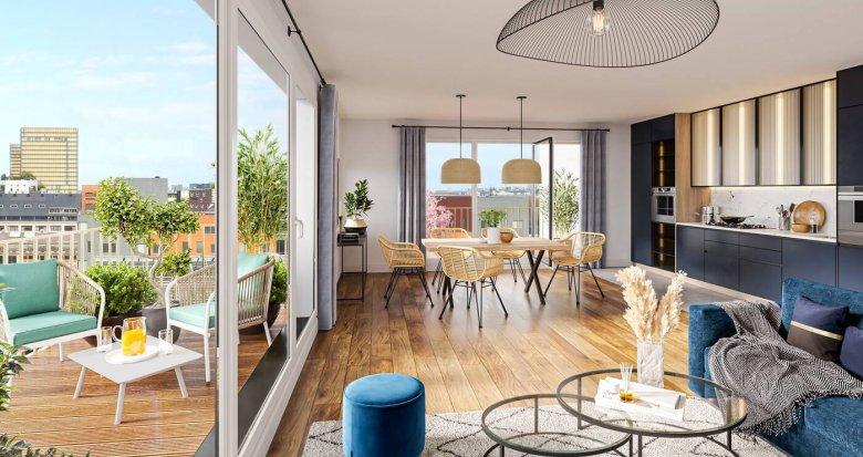 Achat / Vente appartement neuf Paris 13 au cœur du quartier Masséna (75013) - Réf. 6190