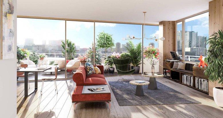 Achat / Vente appartement neuf Paris 13 proche bibliothèque François Mitterrand (75013) - Réf. 6176