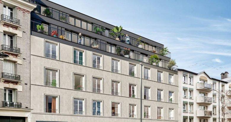 Achat / Vente appartement neuf Paris 19 au pied du métro 11 (75019) - Réf. 5420